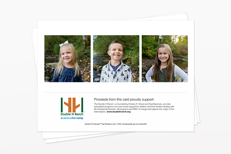 holiday card sample from cards for causes
