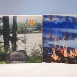 Marble coasters featuring summer time images.