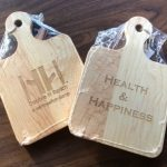cutting boards engraved with double h ranch and health and happiness