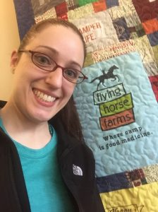 dr heather minto with quilt