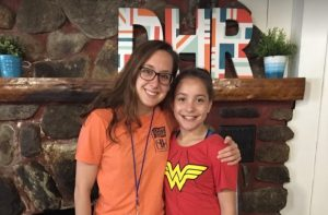 counselor jess with camper