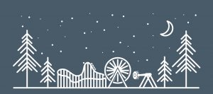amusement park under starlit sky graphic