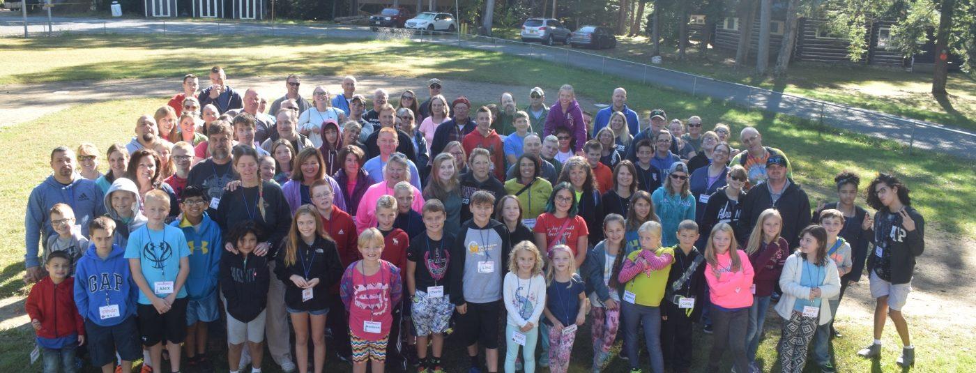 group photo of family programs