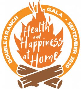 health and happiness at home logo with campfire
