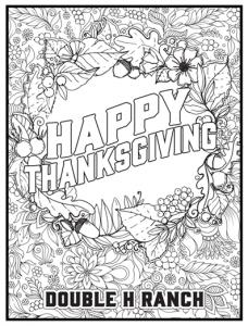 thanksgiving coloring book design